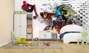 Wallpaper Custom Avenger Untuk Kamar Anak